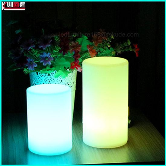 China Festival Decoration Led Pillar Lighting Lamp Restaurant Table