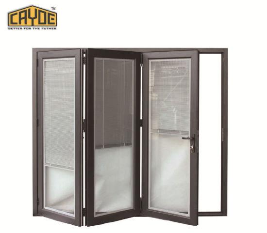 China Cayoe Main Product Double Tempered Glass Aluminum Folding Door