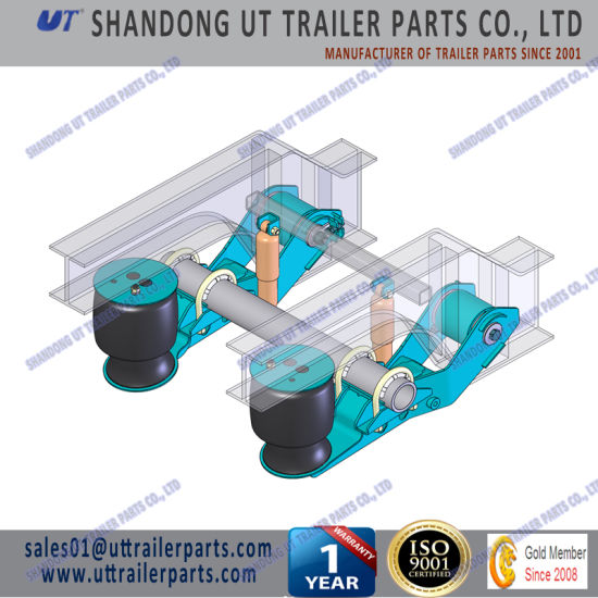 12 Tons Air Suspension for 127mm and 146mm Round Axle Beam for Trailer and Truck china 12 tons air suspension for 127mm and 146mm round axle beam for