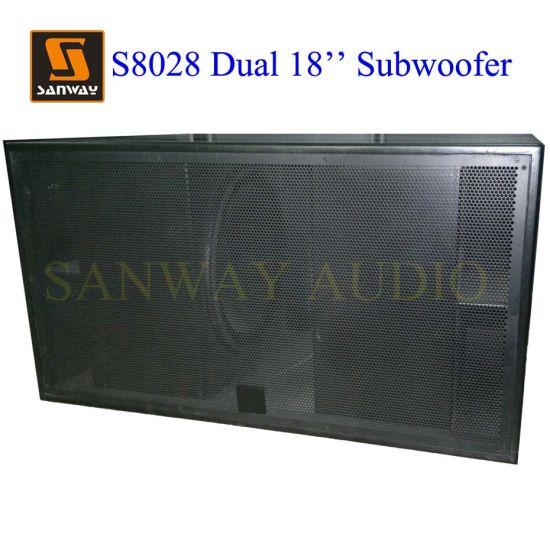 S8028 Dual 18u2032u2032 Indoor U0026 Outdoor Subwoofer Cabinet Box PRO Audio Speaker  With Lf18d401 Driver