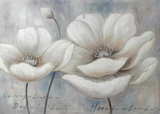 China simple white flowers canvas wall art china oil painting simple white flowers canvas wall art mightylinksfo