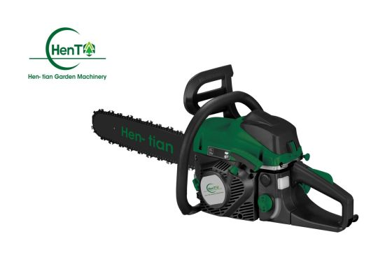 Hen-Tian 2 Stoke Gasoline Chainsaw with Nice Design 45cc Chain Saw pictures & photos