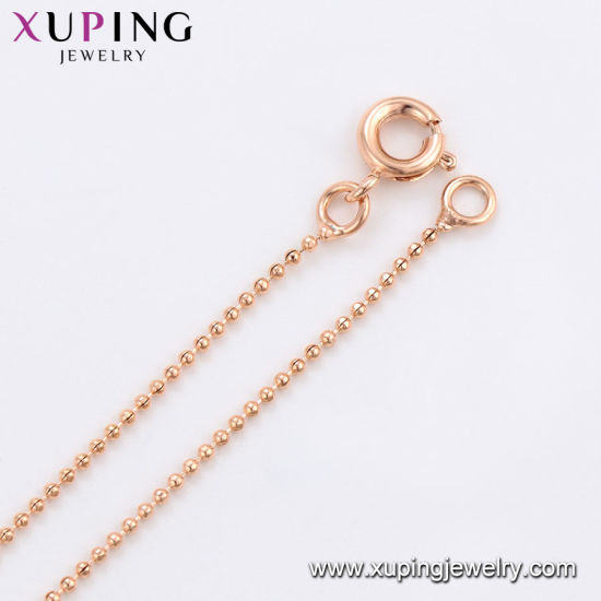 44684 Fashion Charm Simple Rose Gold-Plated Imitation Alloy Copper Jewelry Chain Necklace pictures & photos