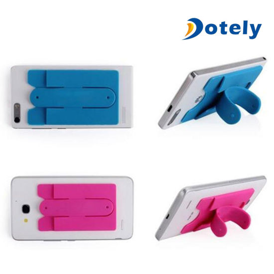 huge selection of 604aa 2979b Silicone Wallet Mobile Smart Adhesive Sleeve Card Holder for Phone with  Stand