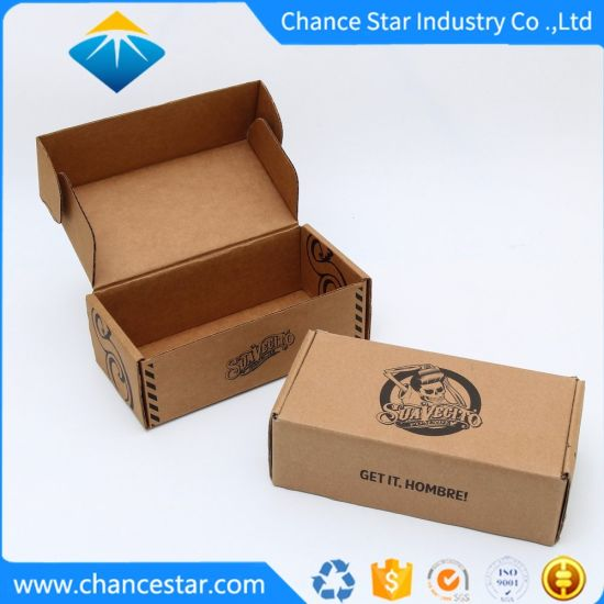 Custom Flat Folding Recyclable Corrugated Kraft Paper Cardboard Box