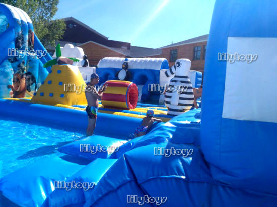china underwater world theme inflatable land moving water park with
