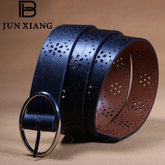 Fashion Women's PU Laser Punching Belt for Kohl's Store