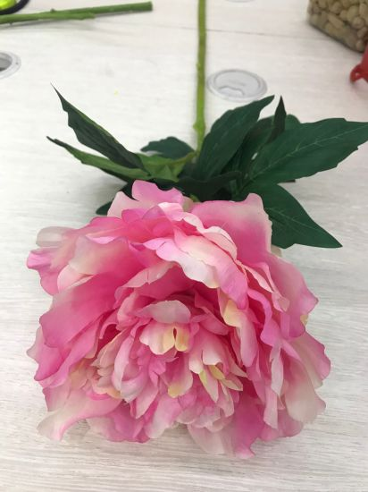 China silk flower artificial peony fake leaf for party wedding home silk flower artificial peony fake leaf for party wedding home mightylinksfo