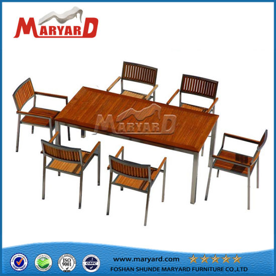 High Quality Easy Clean Wood Table Top Ding Set Pictures Photos