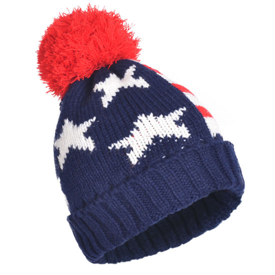 40f454d7d74 Winter Hats Mix Colors Knitted Acrylic Big POM Poms Beanies Skull Caps
