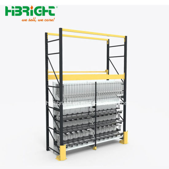 Integrated Supermarket Shelf Storage Rack with Four Post pictures & photos