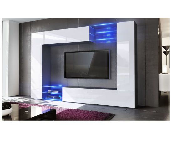 Magnificent Living Room Furniture Set Mirage Black High Gloss Wall Tv Unit Beutiful Home Inspiration Xortanetmahrainfo