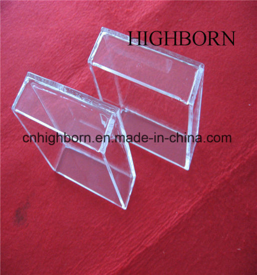High Purity Rectangle Clear Quartz Tray with Cover pictures & photos