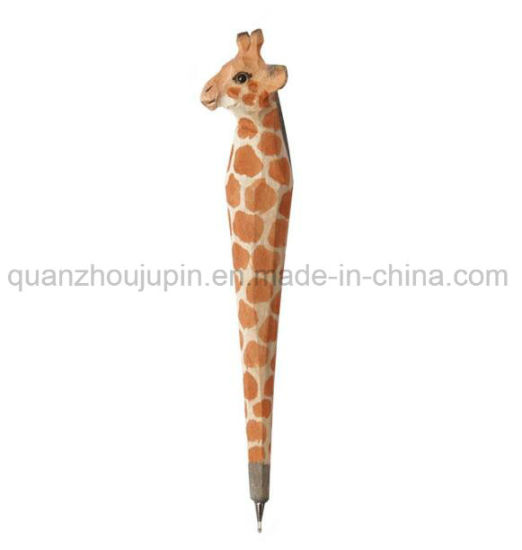 Custom Wooden Cute Animal Ball Point Pen pictures & photos