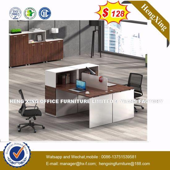 Lecong Market Wooden Black Color Office Desk Workstation Hx 8nr0519