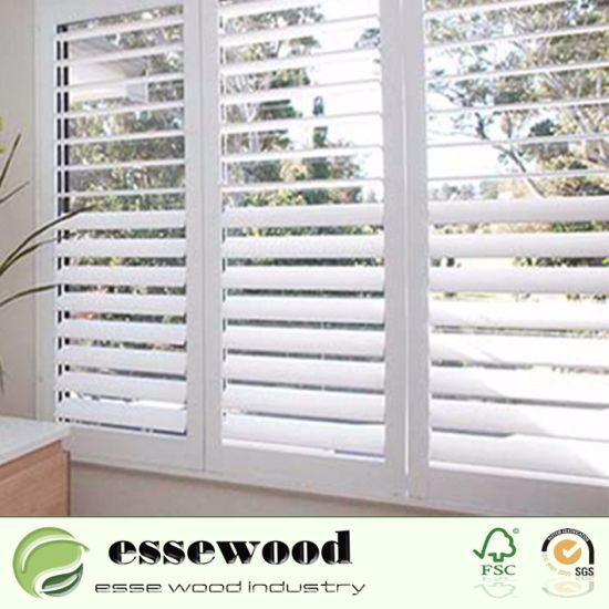 China Decorative Plastic Window Shutters For Interior Home