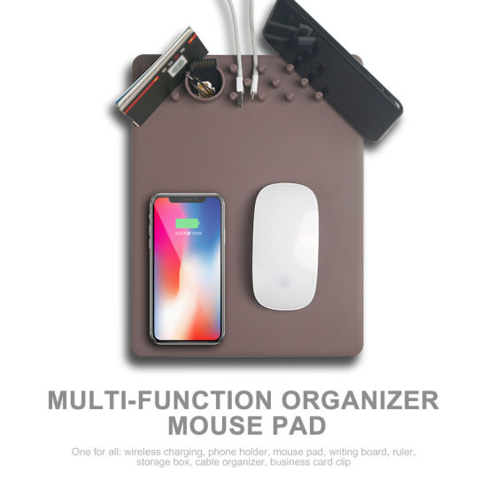 2018 Hot New Multifunctional Mouse Pad with Wirelss Charger pictures & photos