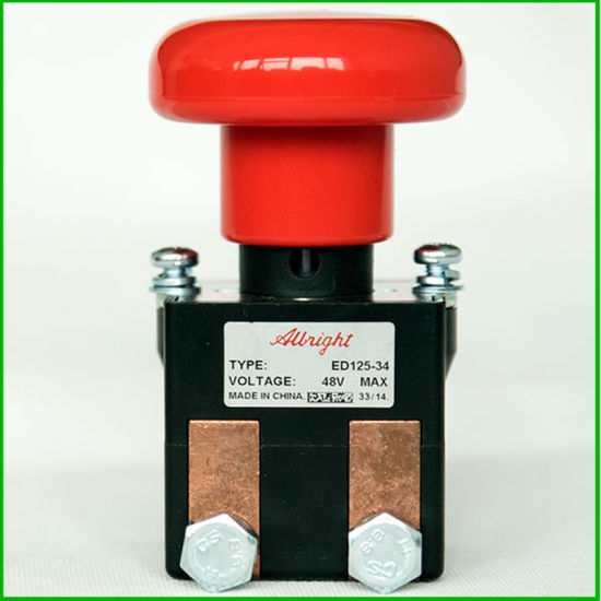 Albright Battery Disconnecting Switch Emergency Disconnect Model ED125-34 Single Pole Single Throw on&off 48V 125A IP50 Protection Level for Forklift