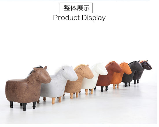 Latest Design China Made Wholesale Child Wood Animal Stool