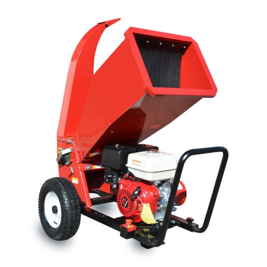 15HP Petrol Manual Hydraulic Industrial Coconut Drum Wood Chipper