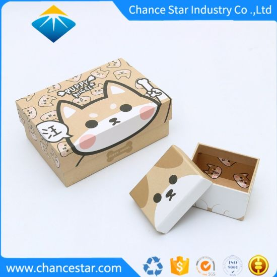 Custom Printing Kraft Paper Cardboard Gift Packing Card Box