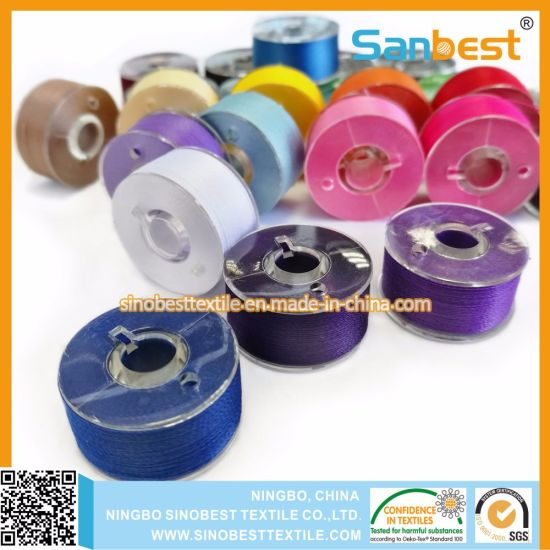 Premium Quality Prewound Bobbins Thread a Size Plastic Sided for Embroidery pictures & photos