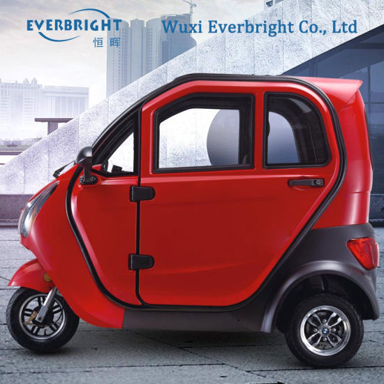 China Three Seats Closed Three Wheels Electric Car For Old