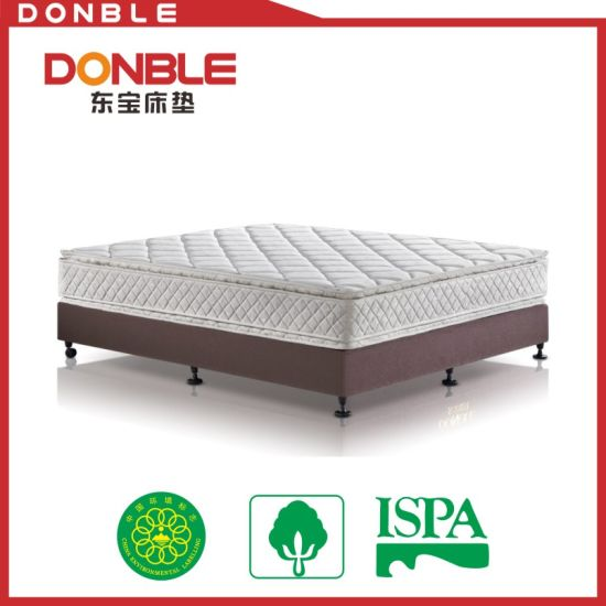 High Quality Double Pillow Top Bonnell Spring Mattress
