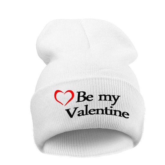 92c6ebe3951 China Love Valentine Beanie Hat Black White Knitted - China Thick ...
