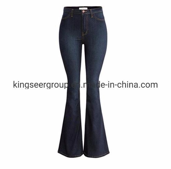 2019 New Arrival Fashion High Waist Women/Ladies Flared Denim Jeans Ks-D010