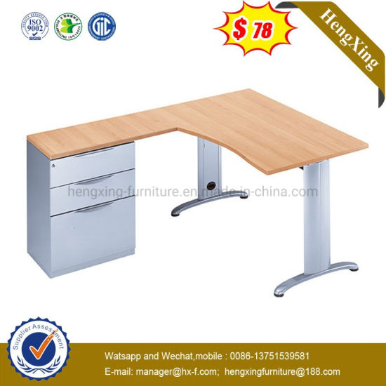 L Shape Home School Study Computer Table Modern Wooden Office Standing Desk pictures & photos