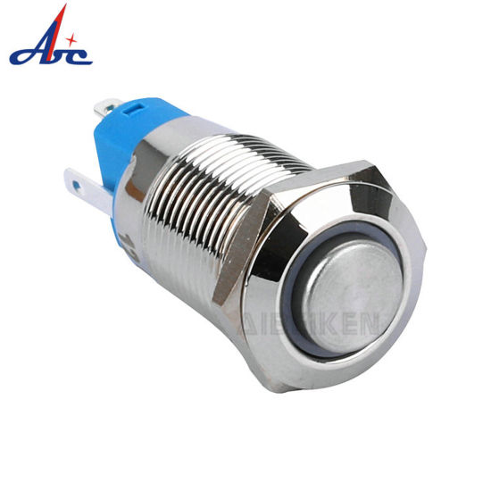 12mm Latching 1no LED Illuminated 220 Volt Push Button Switch