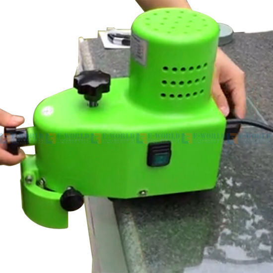 Small Manual Portable Glass Edging Polishing Grinding Machine