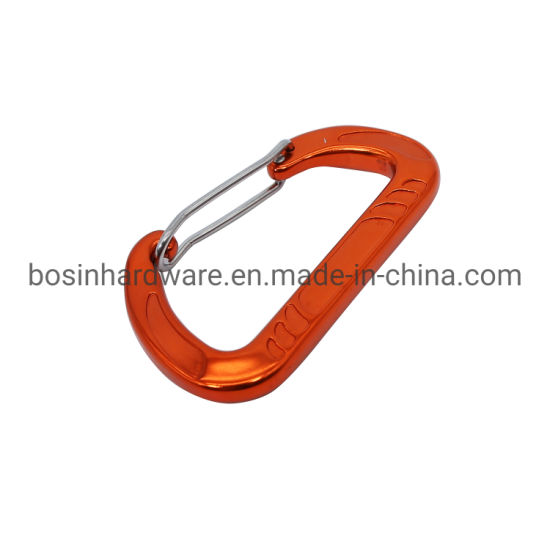 Outdoor Survial Aluminum Carabiner with Wire Gate pictures & photos