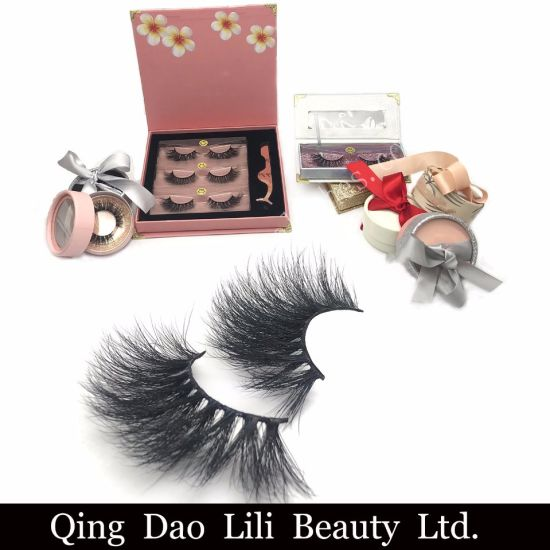 China Wholesale Private Label Eye Lashes 25mm 3D Mink