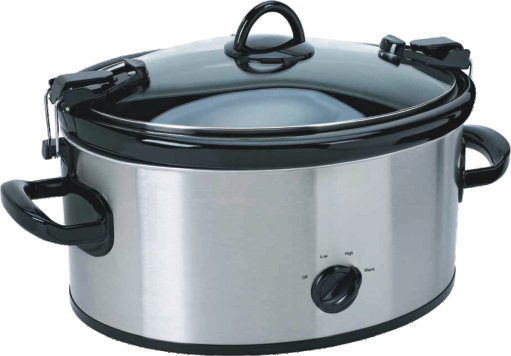 6qt Electric Slow Cooker with Black Crock Cooker Recipes