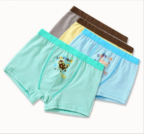a090821a4893 2019 New Fashion Design Kids Underwear Children′s Boxers Briefs Brand  Striped Boys Boxers Shorts