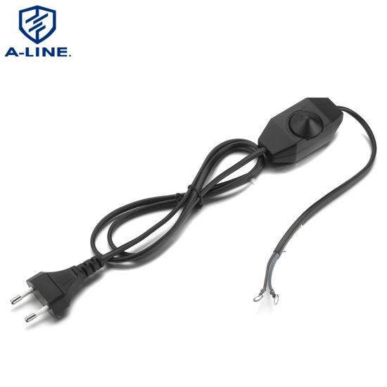 European Type 2 Pins Salt Lamp Power Cord with Dimmer Switch