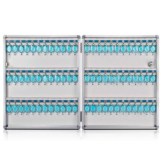 Aluminum 72 Keys Storage Case Key Box with Wall-Mount Function AB1072