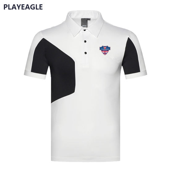 China Wholesale Men T Shirt Quick Dry Latest OEM Logo High Quality Golf Polo Shirt with Short Sleeves