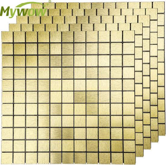Backsplash Wall Tile Peel and Stick Crystal Glass Mosaic
