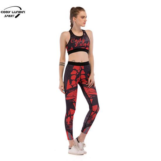 Cody Lundin New Style Women Gym Yoga Wear Sport Crop Top and Leggings Set OEM Design Sports Leggings and Sports Bra Set