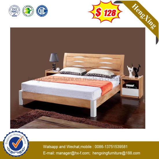 Simple Design Wooden Home Hotel Double Bedroom Furniture (HX-WL012)