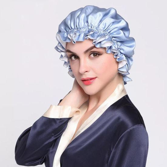 Fashion Custom Silk Cap Luxury Lady Hair Silk Wrap