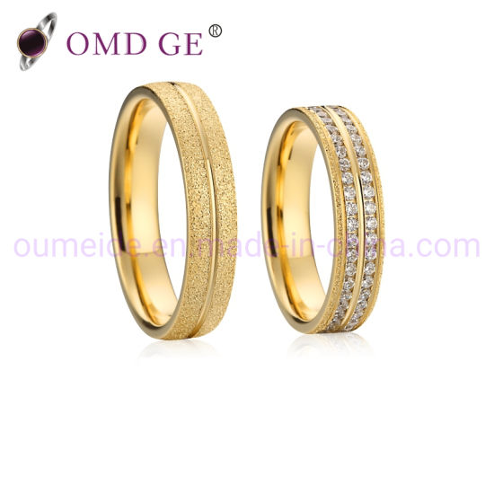 Wholesale Custom Fashion Gold Plated Jewelry Crystal Diamond Rings