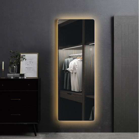 Wall Hanging Frameless Illuminated Light LED Furniture Decorative Mirror with Touch Switch