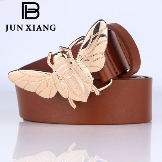 Fashion Women's PU Belts with Scarab Buckle