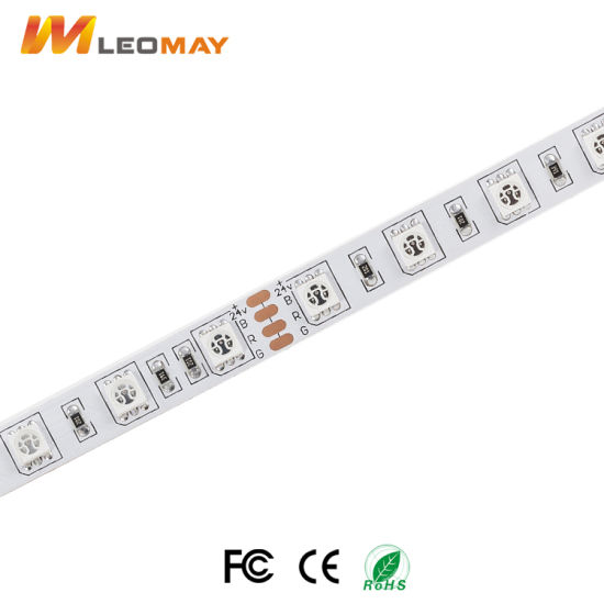 Colorful SMD5050 DC12V/24V RGB/RGBW LED strip with controller adapter pictures & photos