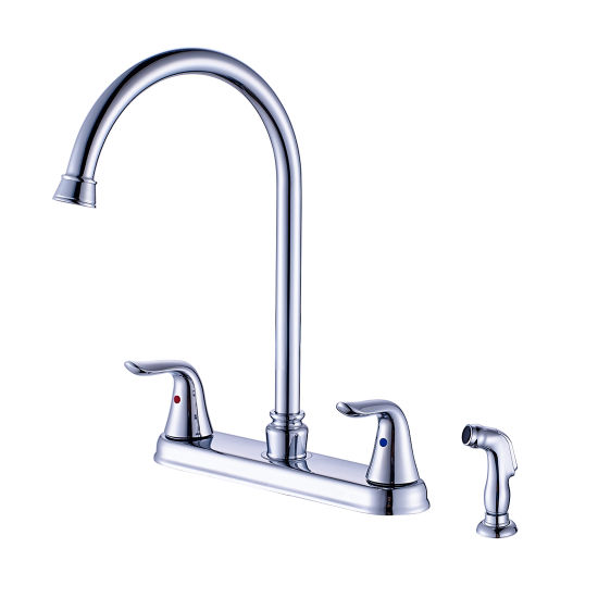 China Flg High Arc Kitchen Faucet With Pull Out Spray Chrome