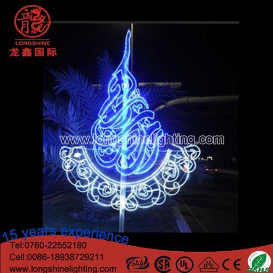 LED Outdoor IP65 Ramadan Decoration Pole Motif Light for Holiday Decoration